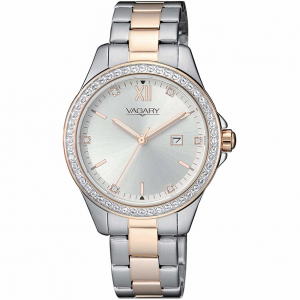Vagary by Citizen orologio Timeless, bicolore, quadrante silver