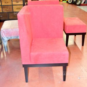Armchair Red - Corner In Alcantara New