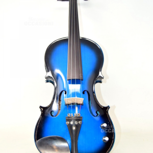 Violino marca Zest acustico ed elettrico Modelllo ZVBBV&T Colore Blu Con Custodia