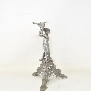 Object Pedestal In Pewter With Angel 23 Cm