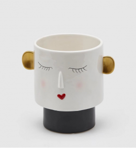 Vaso Nina ceramica labbra cuore rosso