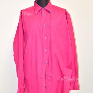 Camicia Uomo Morgan Made In Italy Colore Fuxia Tg 47