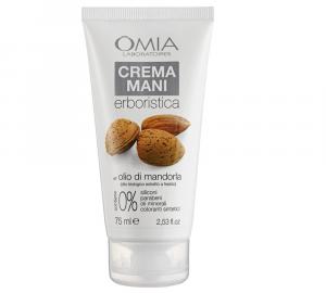 OMIA Crema mani erboristica all' olio biologico di MANDORLA 75ml