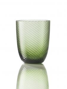 Bicchiere Idra Rigato Ritorto Verde Soraya