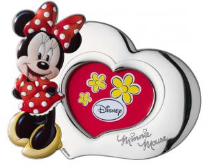 Regalo bimba Portafoto Disney laminato argento Sagoma Minnie D2303XLRA