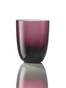 Bicchiere Idra Rigato Ritorto Violetto