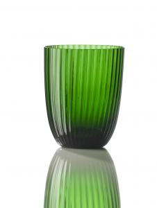 Bicchiere Idra Rigato Verde Pino