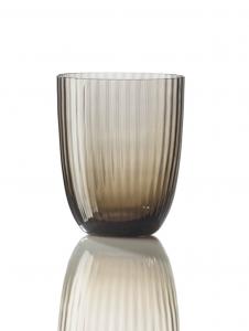 Bicchiere Idra Rigato Marrone