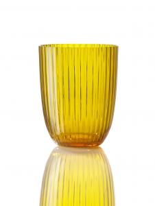 Bicchiere Idra Rigato Giallo