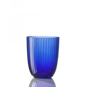 Bicchiere Idra Rigato Blu