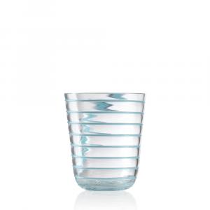 Bicchiere Acqua Twist Celeste
