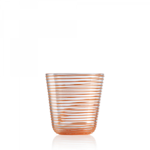 Bicchiere Vino Twist Arancio