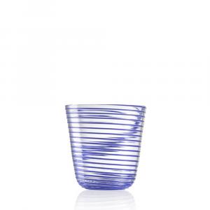 Bicchiere Vino Twist Blu