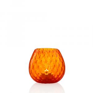 Portacandela Macramè Piccola Arancio
