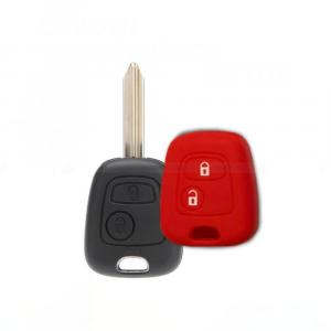 Cover Guscio Colorato Materiale Silicone Morbido Per Scocca Chiave 2 Tasti Auto Toyota Aygo In 10 Fantastici Colori (Rosso)