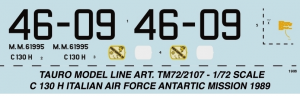 ITALIAN C 130 H - ANTARTIC MISSION 1989