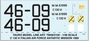 LOCKHEED C 130 H HERCULES A.M.I. ANTARTIC MISSION 1989