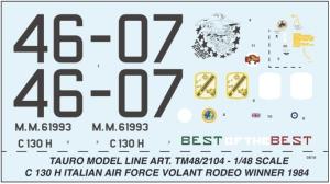 LOCKHEED C 130 H HERCULES A.M.I. VOLANT RODEO WINNER 1984