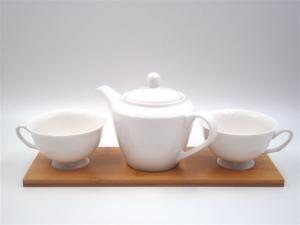 Vetrochina Caffettiera In Ceramica e Legno 2 Tazze P28857