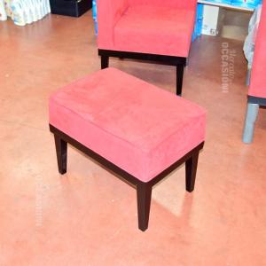 Pouff Rosso In Alcantara Nuovo