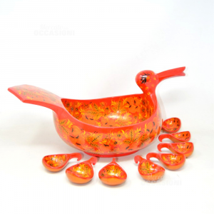 Object Bowl Decorative Russian Shape Of Duck Hand Painted With 8 Tsp