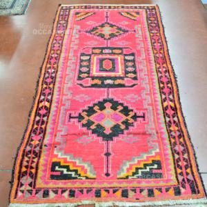 Carpet Red Black -x- 219x112 Cm