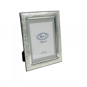 Geo's cornice portafoto bilaminato argento 13x18 moderno