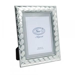 Geo's cornice portafoto argento bilaminato 13x18 moderno
