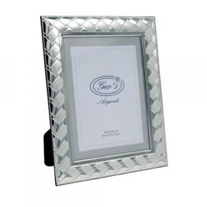 Geo's cornice portafoto bilaminato argento 20x25 moderno