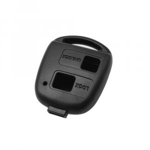 Scocca Guscio Cover Telecomando 2 Tasti Compatibile Per Auto Toyota Colore Nero