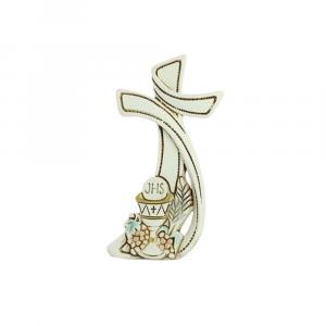 Croce stilizzata Prima Comunione in resina
