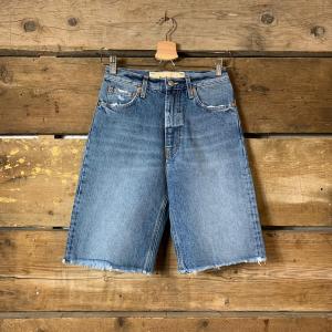 Bermuda Haikure Virginia Donna In Jeans Old Blue Denim Vintage