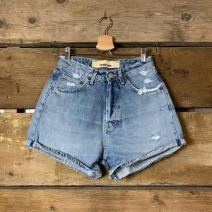 Pantaloncino Haikure Nevada Donna In Jeans Old Blue Denim Vintage