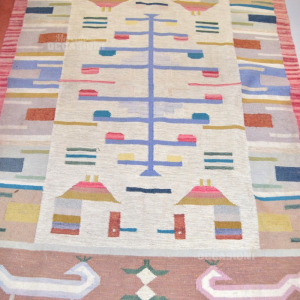 Wool Carpet Multicolor Fantasy Geometric 140 Cmx200 Cm