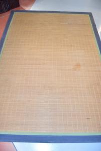 Tappeto tipo Bambù Bordo Blu 160 Cm X 220 Cm (difetto)