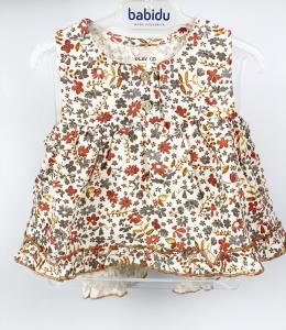veste in cotone con stampa fiori