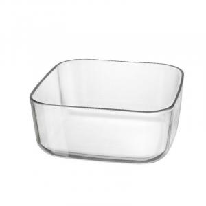 Contenitore in Vetro Trasparente Per Buffet Organize 22x23 cm Adatto per Qualsiasi Tipo Di Cibo Freddo o Caldo