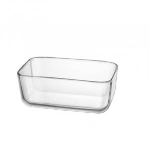 Contenitore in Vetro Trasparente Per Buffet Organize 21X13 cm Adatto per Qualsiasi Tipo Di Cibo Freddo o Caldo