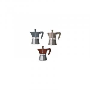 Linea Metropolis Caffettiera 3 Tazze Moka In Alluminio Caffè Di Qualità Casa In Vari Colori Assortiti