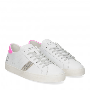 D.A.T.E. Hill Low calf white fuxia