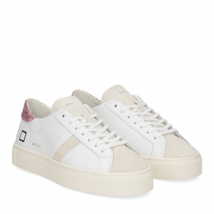 D.a.t.e. Vertigo calf white rose