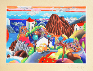 Alinari Luca Serigrafia Paesaggio Formato cm 63x82