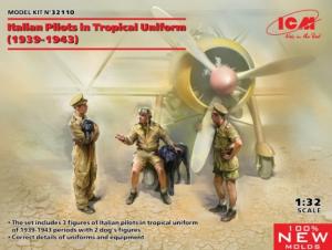 Italian Pilots in tropical uniforms