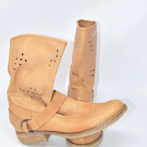 Boot Woman Beige Nerogiardini N°.38