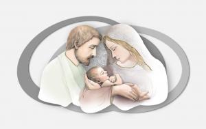 Capoletto moderno  Sacra Famiglia Estego a doppio livello 0515169.1