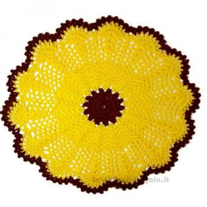 Sottopiatto giallo ad uncinetto ø 29 cm Handmade - Italy