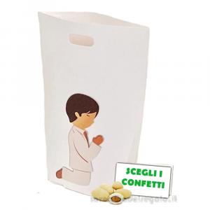 Portaconfetti busta con Bambino 7.5x3x10 cm - Scatole comunione bimbo
