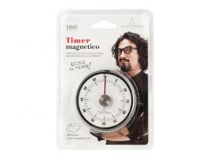 Timer cucina meccanico inox magnetico Alessandro Borghese