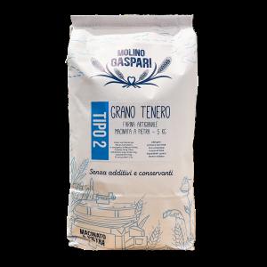 Farina tipo 2 di grano tenero macinata a pietra - 5KG