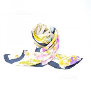 Foulard Silk Fiorio,fantasy Foreale 75x75 Cm